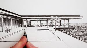 Modern home architecture sketches Easy Draw House In Perspective By Miandza Youtube Euglenabiz Huge Collection Of modern Architecture Drawing Download More Than