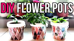 DIY Flower Pots || Recycle Yogurt Containers || Recycled Crafts - YouTube