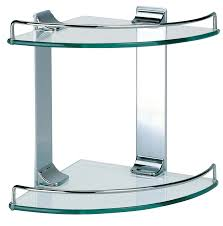 bathroom accessories shower double corner glass shelf chrome finish shower shelves corner