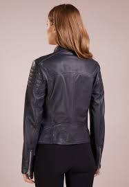 leather jacket boss orange junique open blue womens bo121u009 k11
