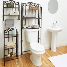 Over The Toilet Bathroom Organizer 3 Shelf Space Saver Metal Towel