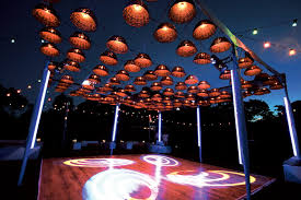 outdoor lighting effects. Levy Lighting Nyc Engineered An Outdoor Dance Floor For A Private Effects