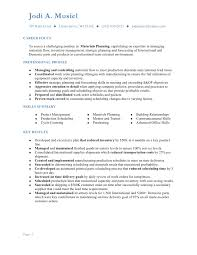 Excellent Production Planning And Control Resume 56 For Your Free Resume  Templates With Production Planning And