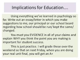 good morning students today educational psych student  27 implications