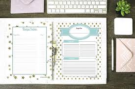 Recipe Binder Templates How To Make A Recipe Binder With Free Organize All Of