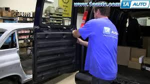 how to remove rear inside door panel chevy express gmc savana cargo van