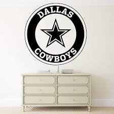 Dallas Cowboys Checks Designs Wall Vinyl Decal Dallas Cowboys Logo Football Emblems Sport Interior Vinyl Decor Sticker Home Art Print Tt9686