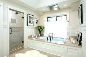 drop in bathtub design ideas country cottage style bathroom with round tub frame idea drop in bathtub ideas