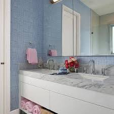 Blue and Pink Bathrooms