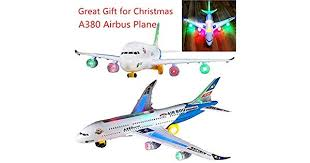 VEwinter NEW Light Music Universal Airbus A380 <b>Plane Model</b> ...
