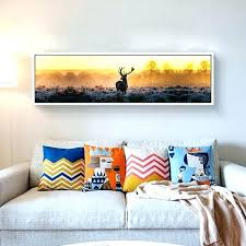 long island wall art long wall art canvas print long painting of deer poster modern wall art pictures for living room home decoration long beach island wall