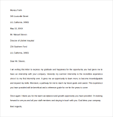10 Internship Thank You Letters Sample Templates