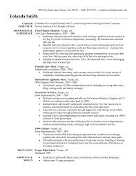 Resume Job Objective For Customer Service Resume Best Inspiration
