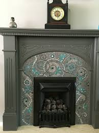Decorative Tiles For Fireplace 100 Stunning Fireplace Tile Ideas for your Home Mosaic fireplace 49