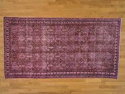 5 x9 handmade oriental rug pink overdyed worn persian hamadan 100 wool g20773