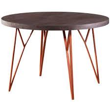 Wohnling Esstisch Massiv Esszimmertisch Rund Holz Metall Küchentisch