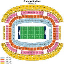 Dallas Cowboys Seating Chart With Rows At T Stadium Seating Chart Views And Reviews Dallas Cowboys