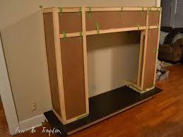 DIY Faux Fireplace Entertainment Center Part 3  Blessu0027er HouseHow To Build A Faux Fireplace