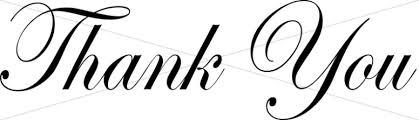 Word Thank You Black Thank You Script Thank You Word Art