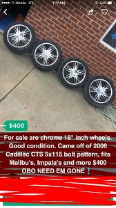 Cars With 5x115 Bolt Pattern Inspiration 48 48 Chrome Wheels 48 LUGS 48x1148 Bolt Pattern For Sale In