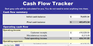 Flow Template Cash Flow Chart Template Exceltemplate