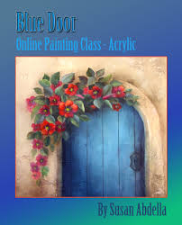 class blue door acrylic painting for all skill levels by artist susan abdella