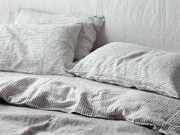 striped linen duvet cover ultra luxurious pure french double sided linen quilt cover in soft grey