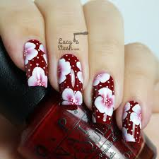 Elegant One Stroke Floral Nail Art - Lucy's Stash