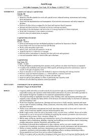 Carpentry Resume Sample Carpenter Resume Samples Velvet Jobs 18