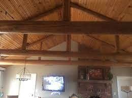 Ceiling up lighting Beam Houzz Up Lighting Pine Vaulted Ceiling