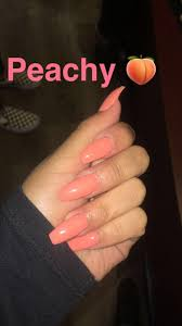 Peach Nail Designs Pinterest Pinterest Meganheartov Orange Acrylic Nails Nails