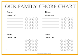 Family Chore Chart Template Simple Concept Templates Rt 0 A 4 N 1 J