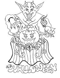 Small Picture Scary Halloween Coloring Pages Coloring Pages