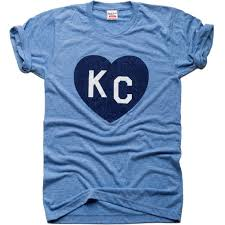 Charlie Hustle Plaza Lights Vintage Blue Kc Heart Tee Heart Shirt Royal Clothing T Shirt