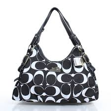 Coach Fashion Signature Medium Black Shoulder Bags DZJ