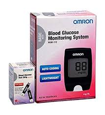 <b>Omron</b> HGM-112 Glucometer (Vial of 10 strips free): Amazon.in ...