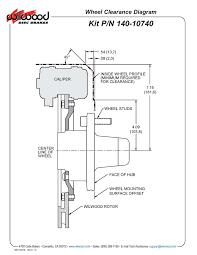 wilwood 140 10740 dp6 12 19 front disc brake kit 62 72 mopar b e installation instructions pdf wheel clearance diagram