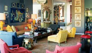 red yellow blue blue yellow living room