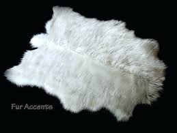 fake animal rug sheepskin area pelt faux fur polar bear accent throw carpet skin rugs canada