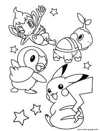 Cute Pokemon Pikachu S0e7f Coloring Pages Printable Chronicles Network
