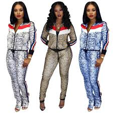 Womens Designer Sweat Suits 2019 Womens Designer Casual Long Sleeved Jacket Two Piece Sports Jogger Pants Set Ladies Winter Tracksuit Sweat Suits Outfits Sweat Suits A2046 From
