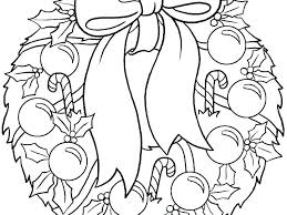 Christmas Wreath Coloring Pages Parkspfeorg