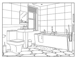 Drawing and coloring a house is something that kids learn quite early. Bathroom Around The House Coloring Pages For Adults 1 Etsy