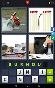 4 pics 1 word level 121 burnout
