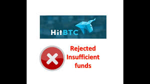 Hitbtc Order Rejected Insufficient Funds Solved Youtube