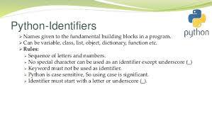 Python Identifiers
