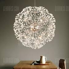 lanshi creative crystal dandelion chandelier remote control home lighting pendant lamp 112 05 free gearbest com