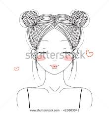 Vector Images Illustrations And Cliparts Hand Drawn Cute Girl With