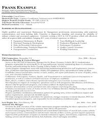 Example Of A Federal Government Resume
