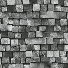 Small Picture Black Grey Modern 3D Brick Wallpaper Design Decor City